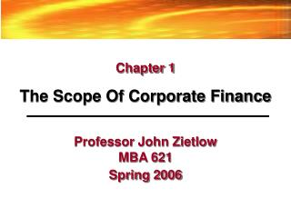 mba chapter 1